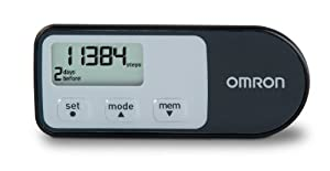 Omron HJ-321 Tri-Axis Pedometer, Black