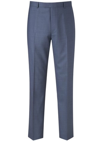 Austin Reed Contemporary Fit Blue Pick&Pick Trouser SHORT MENS 38