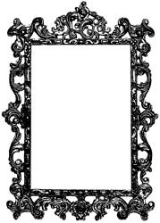 Stampers Anonymous Donna Salazar Cling Stamp Ornate Frame; 3 Items/Order