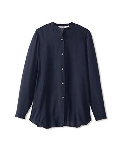 Lola & Sophie Women's Long Sleeve Button Up Sheer Shirt