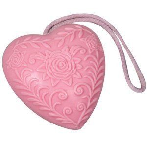 Heart Soap on a Rope - Luxury Handmade Rose Soap