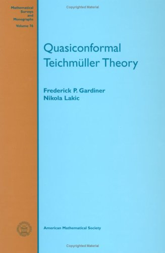 Quasiconformal Teichmuller Theory (Mathematical Surveys and Monographs)