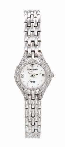 Buy Jules Jurgensen Women's Silver-Tone Diamond Accented Dress Watch #7886W