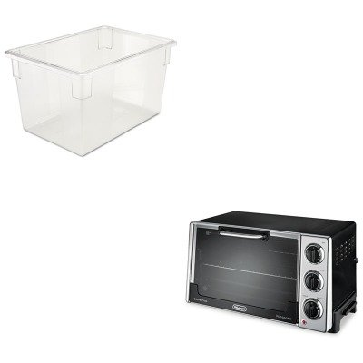 Kitdloro2058Rcp3301Cle - Value Kit - Rubbermaid-Clear Food Boxes; 21 1/2 Gallon 18 X 26 Food Box (Rcp3301Cle) And Delonghi Convection Oven W/Rotisserie (Dloro2058)