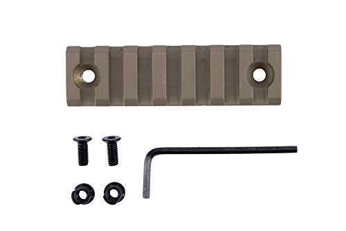 Monstrum Tactical 7 Slot/3 inch Picatinny Rail for Keymod Systems (Flat Dark Earth) (Dark Earth Quad Rail compare prices)