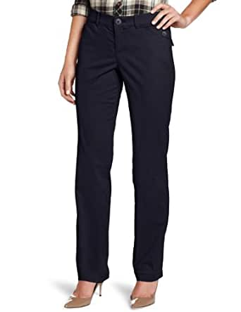 Dockers Women's Continental Khaki Pant with Hello Smooth, Black, 6/Medium