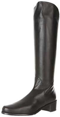 Stuart Weitzman Women's Arlington Flat Boot,Black Nappa,5 M US