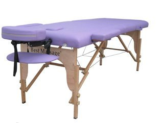 New Purple PU Portable Massage Table w/Free Carry Case U1 Chair Bed Spa Facial