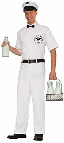 Forum Novelties Men's 50's Milkman Costume, White, Standard