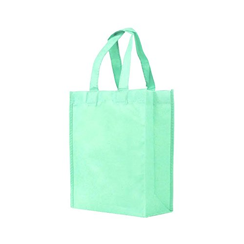 Reusable Gift / Party / Lunch Tote Bags - 25 Pack - Mint Green