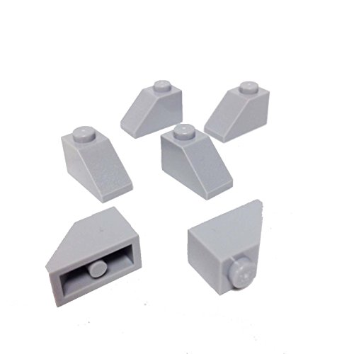 Lego Parts: Slope 45° 2 x 1 (PACK of 6 - LBGray)