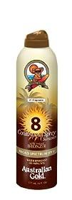 Australian Gold SPF 8 Continuous Spray Bronzer 6 Ounce