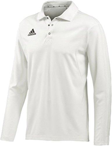 Adidas a maniche lunghe da Cricket Sport Climacool Massimo traspirante Polo gesso, Multi-coloured, XL