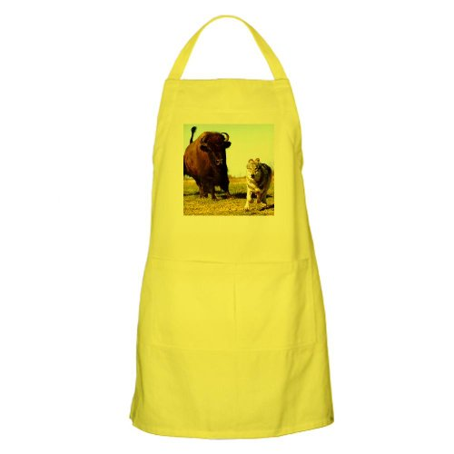 Cafepress Orca Wolf Being Chased By Buffalo BBQ Apron - Standard