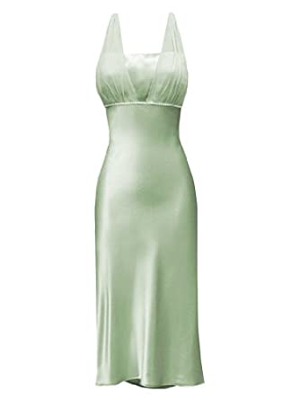 Satin Chiffon Prom Dress Holiday Formal Gown Bridesmaid Crystals Knee-Length Junior Plus Size, 3X, Sage