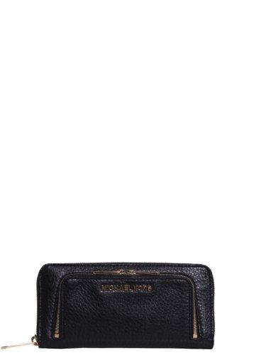 Michael Kors Bedford Double Zip Wallet In Black