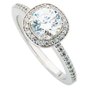 .75CT Halo Diamond Ring 14K White Gold