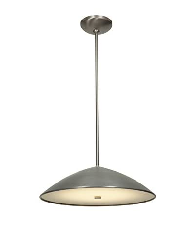 Access Lighting Stealth 3-Light Pendant, Brushed Steel/Frosted Glass
