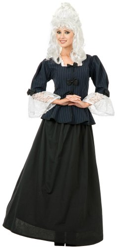 Charades Costumes - Martha Washington Colonial Woman Adult Costume - Medium