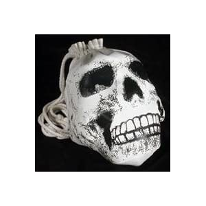 Large White Skull Dice Bag
