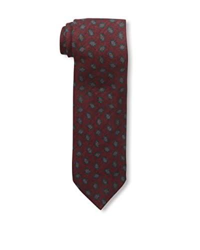 J. McLaughlin Men's Floral Tie, Red/Green