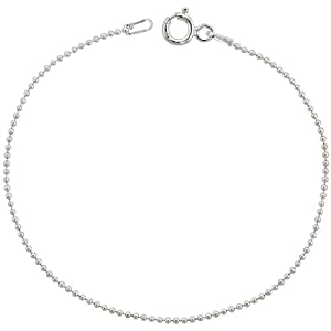 sterling silver pallini bead ball chain