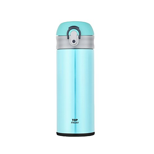 TopFriday Vacuum Insulation Mug One-touch Open Type, 12-Ounce, Green (Draw On Coffee compare prices)