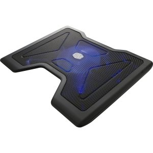 Cooler Master NotePal X2 - Gaming Laptop Cooling Pad with 140mm Blue LED Fan - 1400 rpm - Ball Applicability - Metal, Plastic - 1.7 x 14.8 x 11.4 - R9-NBC-4WAK-GP