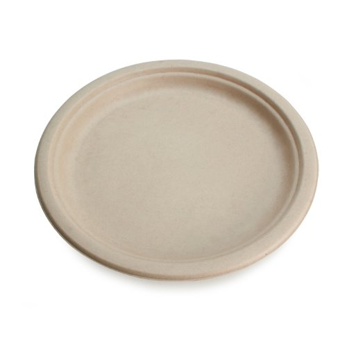 Earths-Natural-Alternative-Wheat-Straw-Fiber-Bagasse-Sugarcane-Tree-Free-7-Round-Plate-1000Case