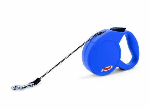 Flexi Freedom Retractable Cord Dog Leash, Extra Small, 10-Feet Long, Supports up to 18-Pound, Blue