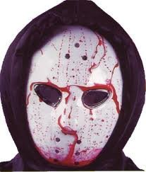 Hockey Mask - Dripping Bloody Bleeding Halloween Costume