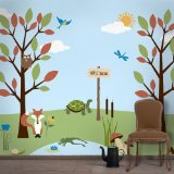 My Wonderful Walls Forest Theme Wall Stencil Kit for Forest Nursery Wall Decor