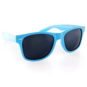 Vintage Wayfarer Style Sunglasses - 15 Colors Dark Lenses Blue Pastel