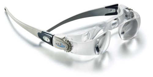 ESCHENBACH メガネタイプルーペ マックス・ディテール フェイスリフト 倍率2倍 視度調節機能付き クリア 1624-51