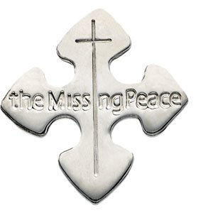 Mens Womens Sterling Silver The Missing Peace Lapel Pin