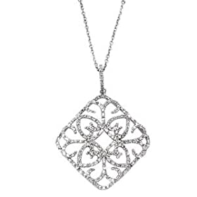 14kt White Gold and Diamond Heart Pendant, $1149 Retail