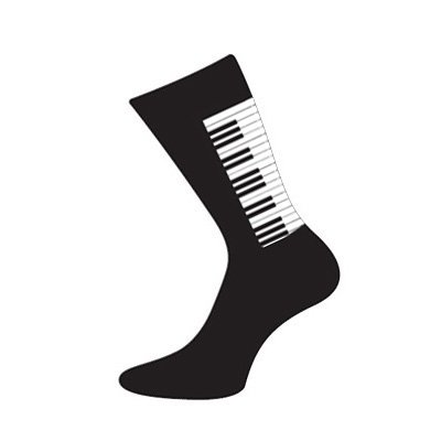 Men's Novelty Designer Pair Of Piano Design Cotton Rich Socks (Fits Size 5 to 12) - A Great Christmas, Birthday, Valentine, Anniversary, Wedding Gift For Husbands, Fathers, Boyfriends, Friends And Work Colleagues