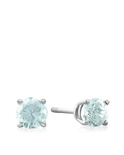 Adoriana 14K White Gold Blue Topaz Stud Earrings