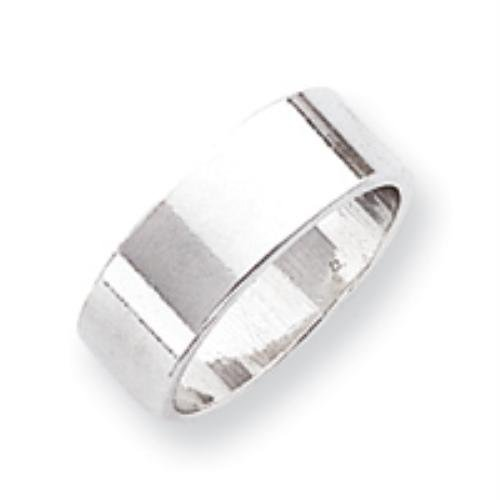 Sterling Silver 7mm Flat Band Ring Size 9 Real Goldia Designer Perfect Jewelry Gift for Christmas