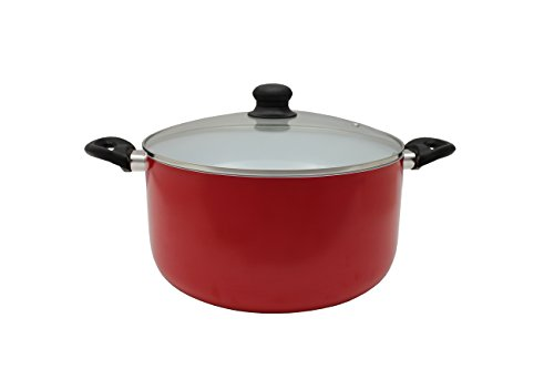 Concord 10 Quart Nonstick Ceramic Dutch Oven Cookware (Induction Compatible) (Largest Size)