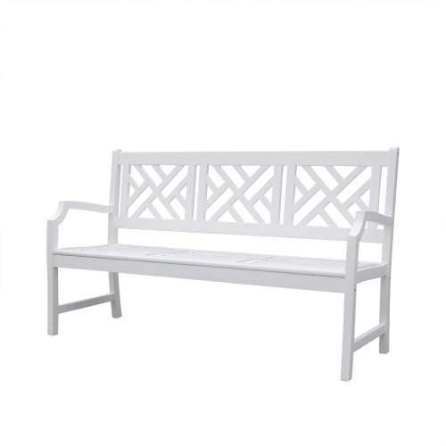 Vifah V1342 Bradley Outdoor Wood Bench