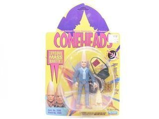 "Prymaat Conehead Parental Unit in Suburban Uniform Action Figure - Coneheads Pre-formed Polymer Replicants ""From France"""
