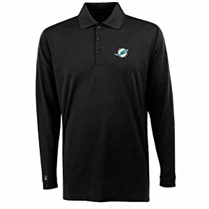 Miami Dolphins Long Sleeve Polo Shirt (Team Color) by Antigua