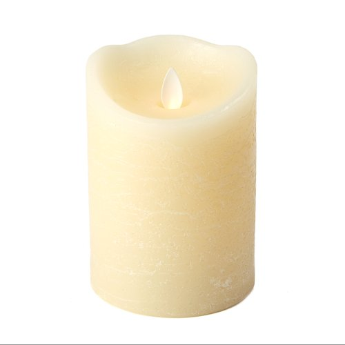 Two'S Company Dazzler Unscented Wax/Plastic Flickering Candle, 5-Inch