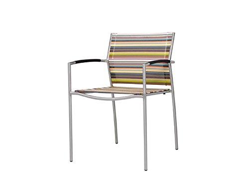 ROVEX Garten Stuhl stapelbar Zebra Textilene gestreift online kaufen