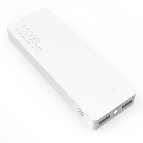 Aukey モバイルバッテリー 12000mAh 大容量 スマホ充電器 AiPower機能搭載 iPhone 6s / 6s Plus / 6 / 6 Plus / 5s / 5c / 5 / iPad / Android / Xperia / Galaxy / 各種スマホ / タブレット / ゲーム機 / Wi-Fiルータなどに対応 (ホワイト)PB-N28