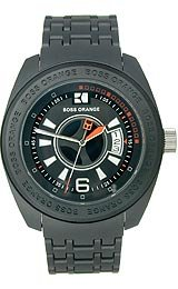 Hugo Boss Boss Orange Polycarbonate Bracelet Black Dial Men's watch #1512540