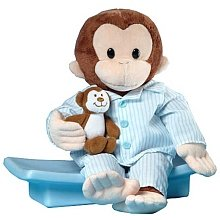 "Russ Berrie Curious George In Pajamas 12"" Plush"