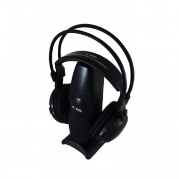 Axess Hpw603-Bk Over-Ear 900Mhz Uhf/Rf Stereo Wireless Headphone With Noise Reduction Technology
