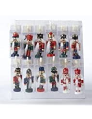 2.5 Inch Wooden Clip-on Mini Nutcrackers - Set of 12 by Kurt Adler